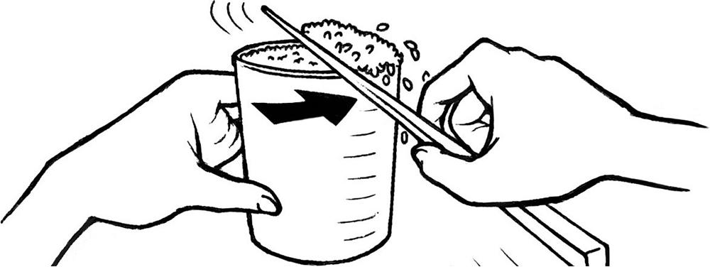 お米を正確に量る